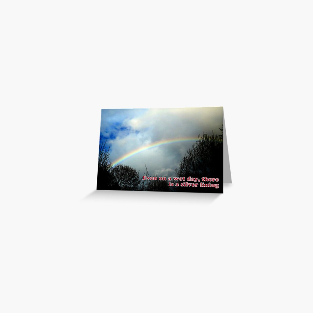 Wet Day, Silver Lining Greeting Card