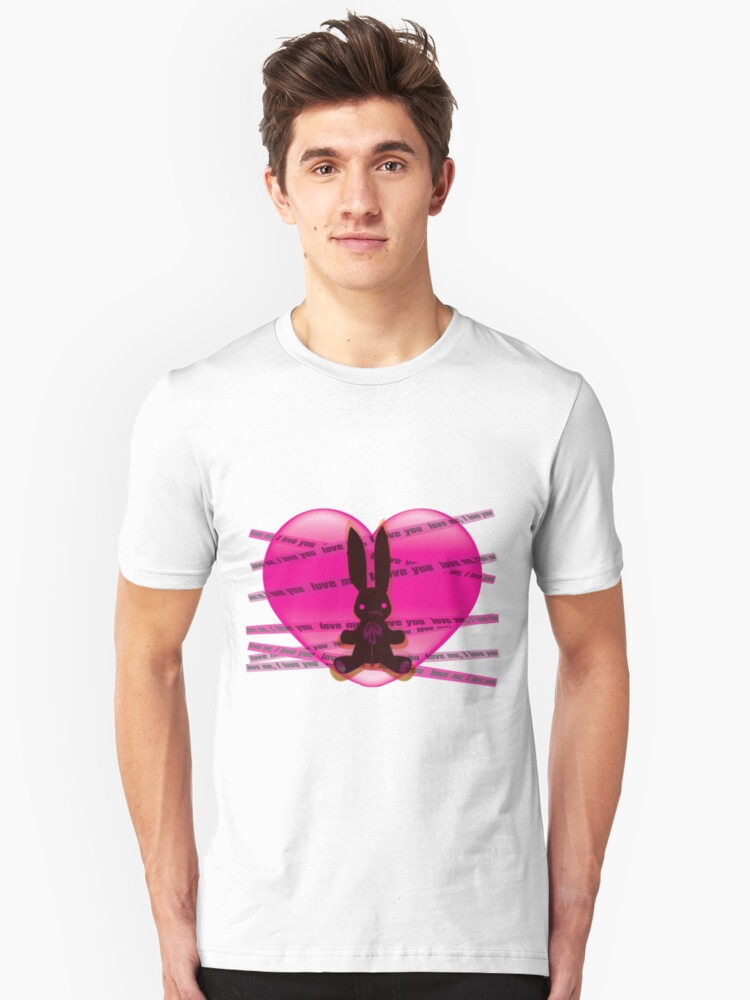 The stuffed toy of the rabbit Unisex T-Shirt Front