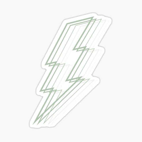 Sage Green Lightning Sticker