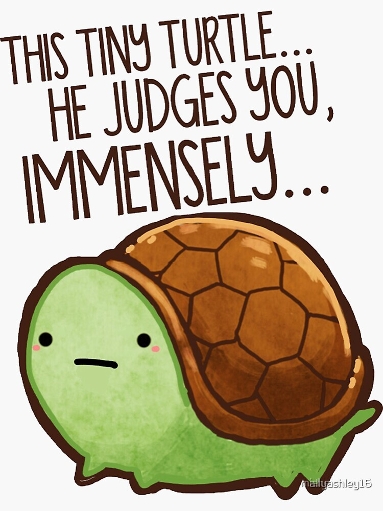 Tiny turtle judges you immensely  by allyashley16