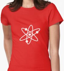 The Big Bang Theory Atom Logo 2 (in white) Women's Fitted T-Shirt