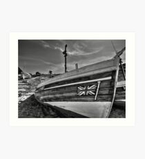 Boat at North Landing - North Yorkshire Art Print