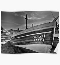 Boat at North Landing - North Yorkshire Poster