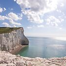 Chalky cliffs at Seaford Head by Zoe Power