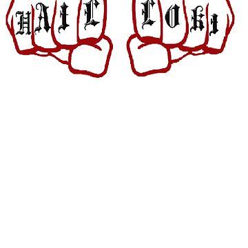 HailLoki Fist t-shirt by DarkOrLight