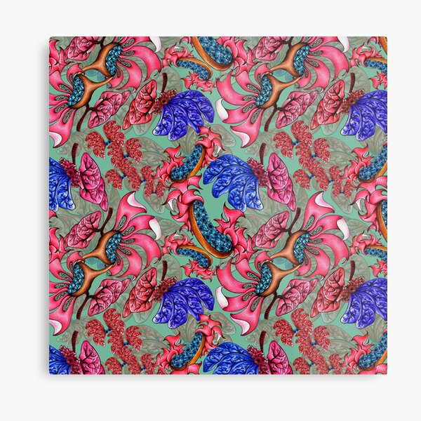 Two dimensional truth - surface pattern design Metal Print
