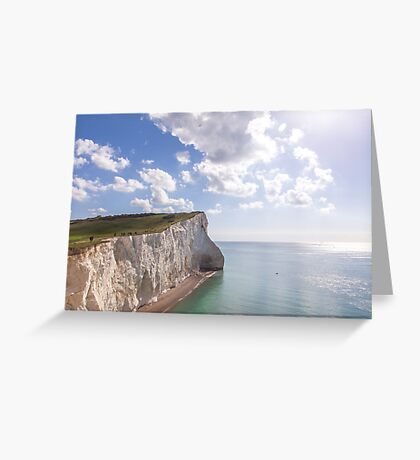 Tiny people and huge cliffs Greeting Card