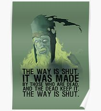 The way is shut. Poster