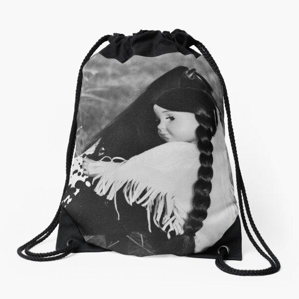 Kaya and Steps High Drawstring Bag