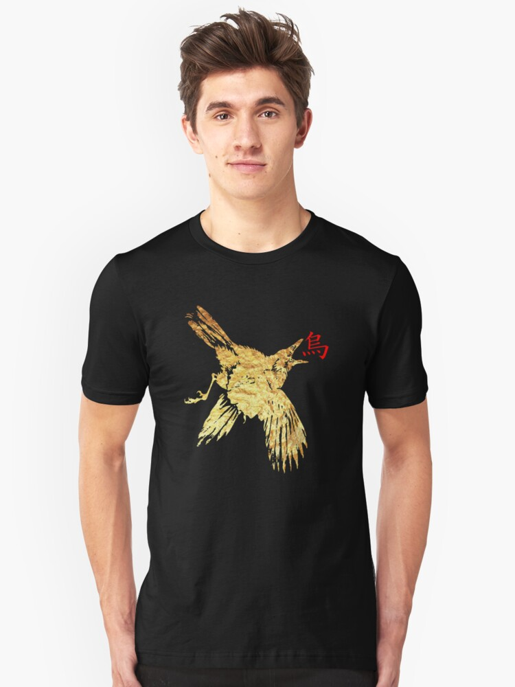 gold crow 3 Unisex T-Shirt Front
