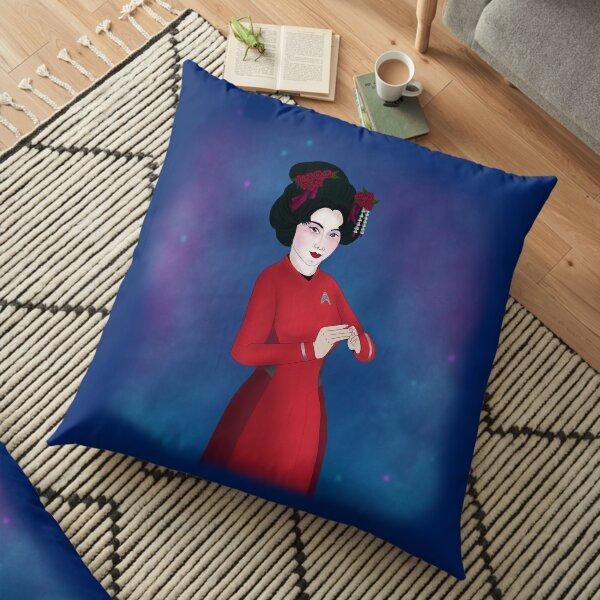 Starfleet Geisha  Floor Pillow