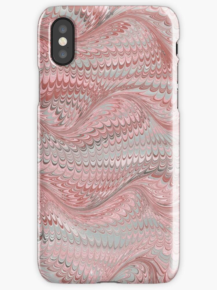 Antique Marbled Paper Pink Grey by Pixelchicken