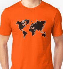 world map monde Unisex T-Shirt