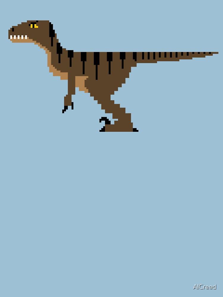 8-Bit Velociraptor by AlCreed