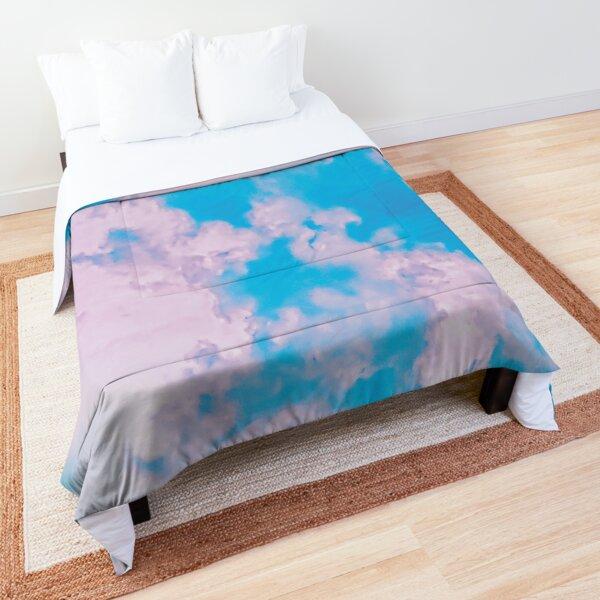 Vaporware of clouds in the sky Comforter