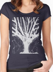Abstract Tree Painting by Parrish Lee Women's Fitted Scoop T-Shirt
