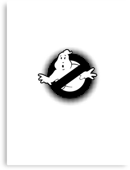 Original Ghostbusters Halftone Logo (in black and white) by electricFIELD
