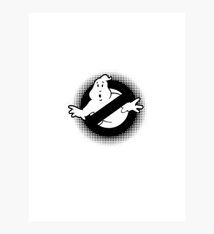 Original Ghostbusters Halftone Logo (in black and white) Photographic Print