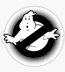 Original Ghostbusters Halftone Logo (in black and white) Sticker