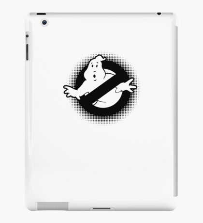 Original Ghostbusters Halftone Logo (in black and white) iPad Case/Skin