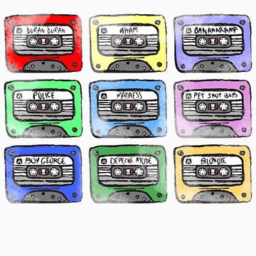 80's Tape Cassette Tee by Redsdesign