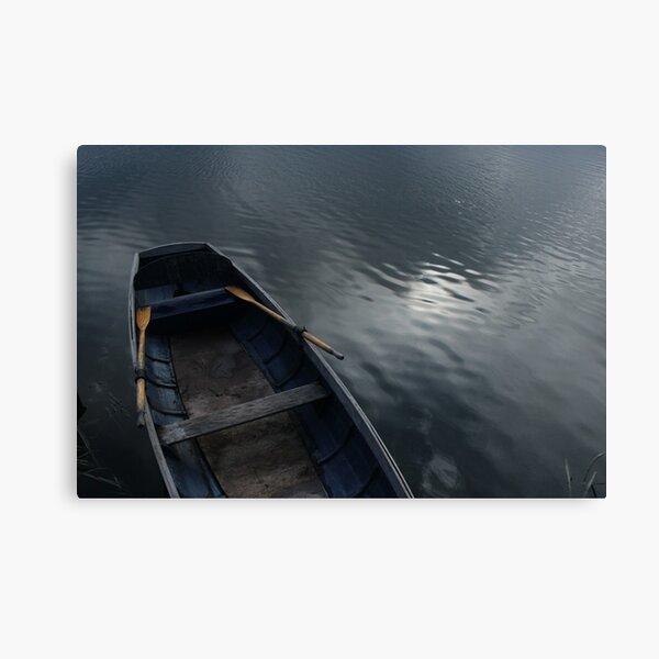 Boat on lake Canvas Print