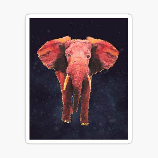 Elephant Night, Smokey Stars, Sparkles, Fantasy, Oil Painting, Digital Art Sticker