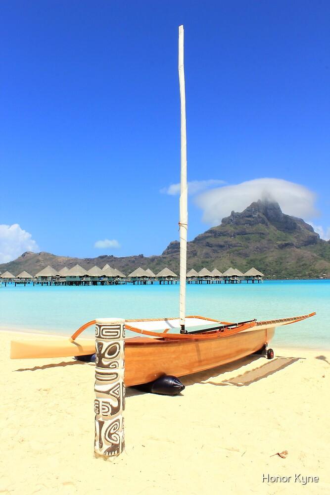 Sail boat, Bora Bora by Honor Kyne