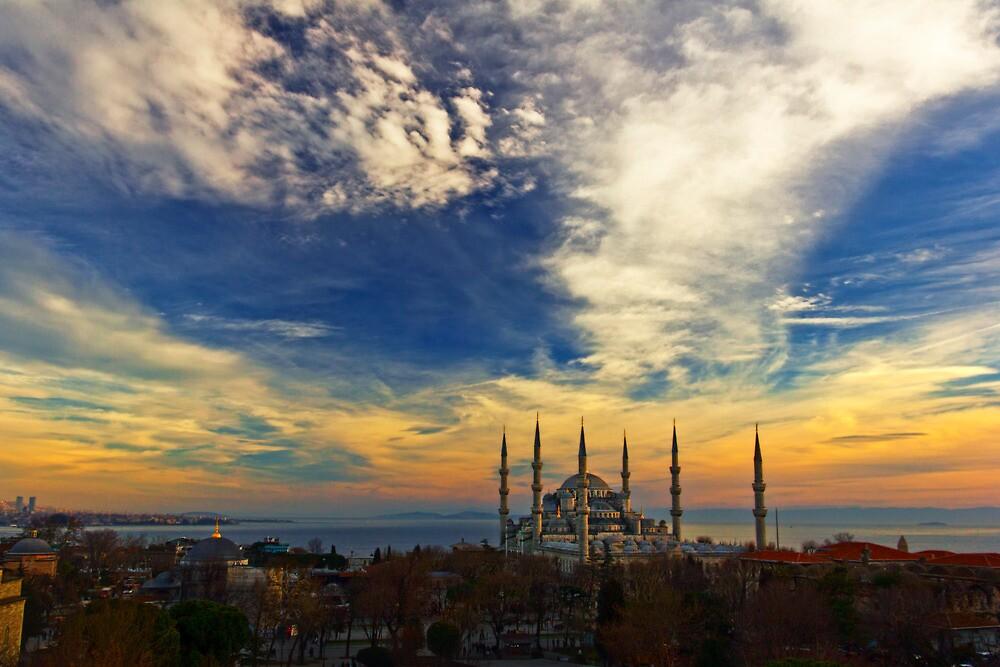 The Blue Mosque by Baki Karacay