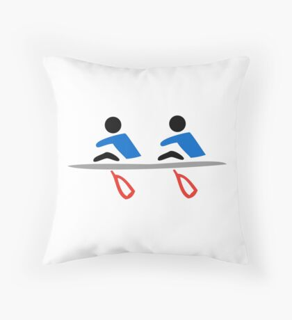 Rowing - Double Throw Pillow