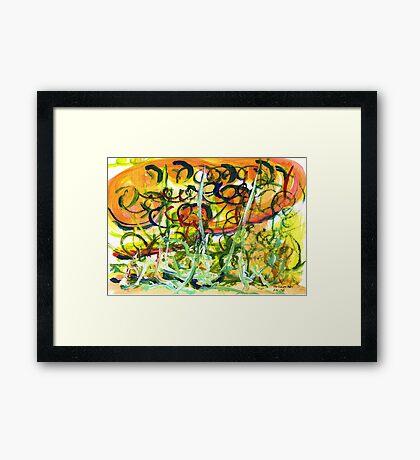 The Flower Duet Framed Print