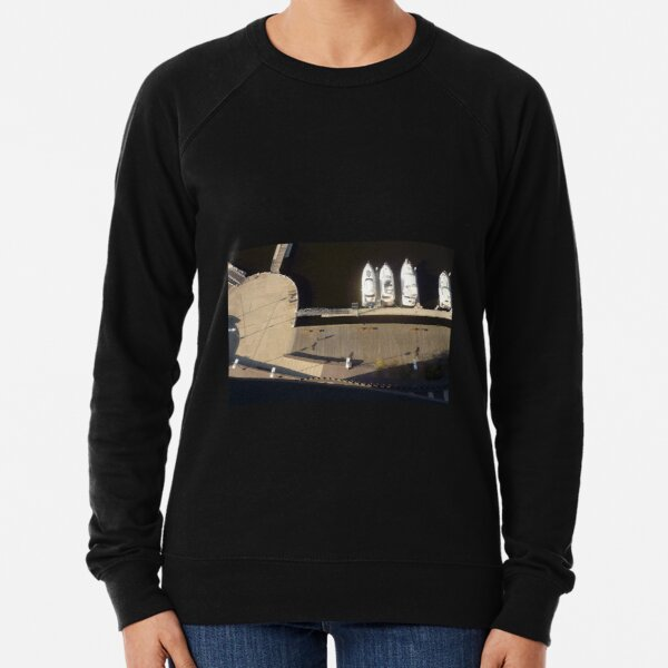 Jetty and boats, Docklands, Melbourne Lightweight Sweatshirt