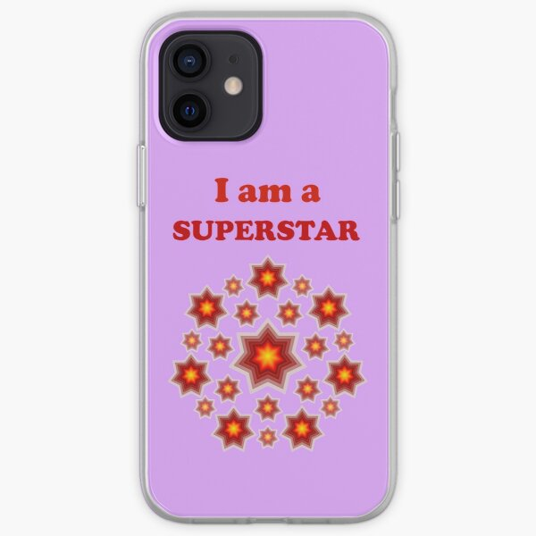 Red shining stars iPhone Soft Case