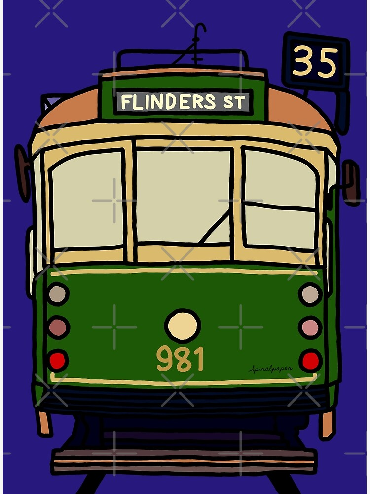 Melbourne Tram - No.35 to Flinders Street by spiralpaper