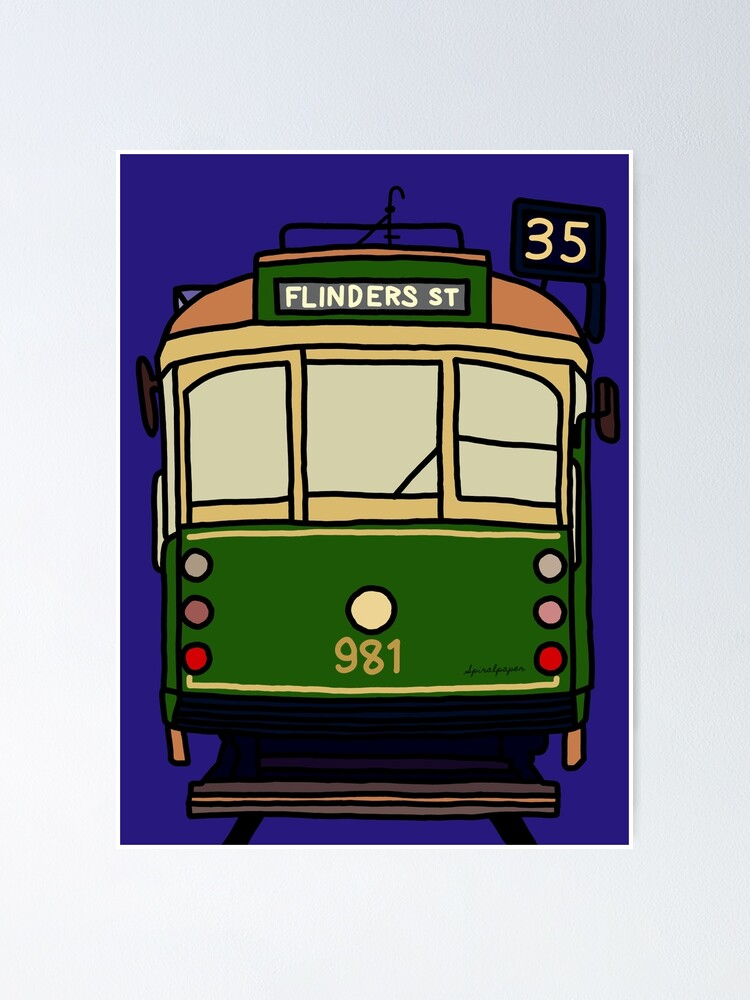 Alternate view of Melbourne Tram - No.35 to Flinders Street Poster