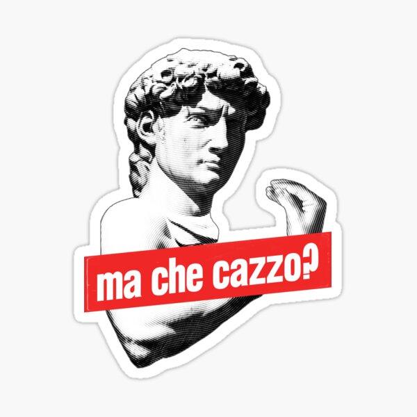 Ma Che Cazzo?! Funny David Sculptur with talking Hand Sticker