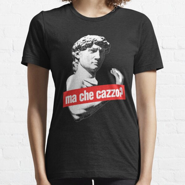 Ma Che Cazzo?! Funny David Sculptur with talking Hand Essential T-Shirt