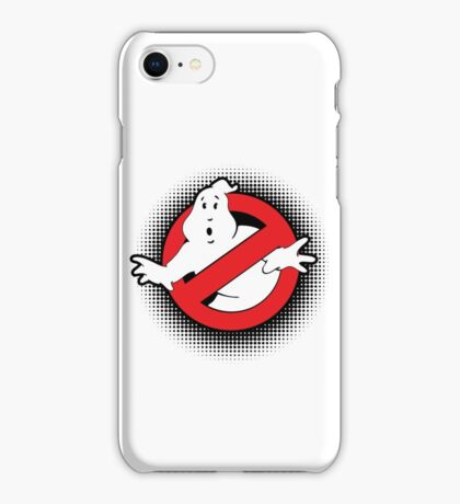 Original Ghostbusters Halftone Logo (in colour) iPhone Case/Skin
