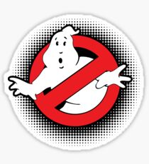 Original Ghostbusters Halftone Logo (in colour) Sticker