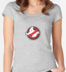 Original Ghostbusters Halftone Logo (in colour) Women's Fitted Scoop T-Shirt