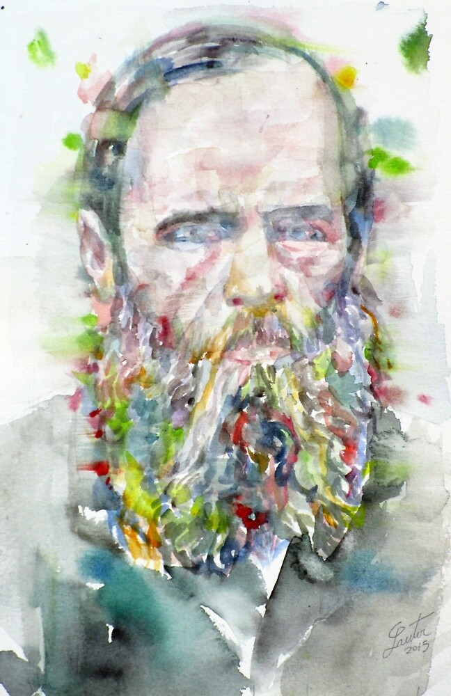 FYODOR DOSTOYEVSKY - watercolor portrait.5 by lautir