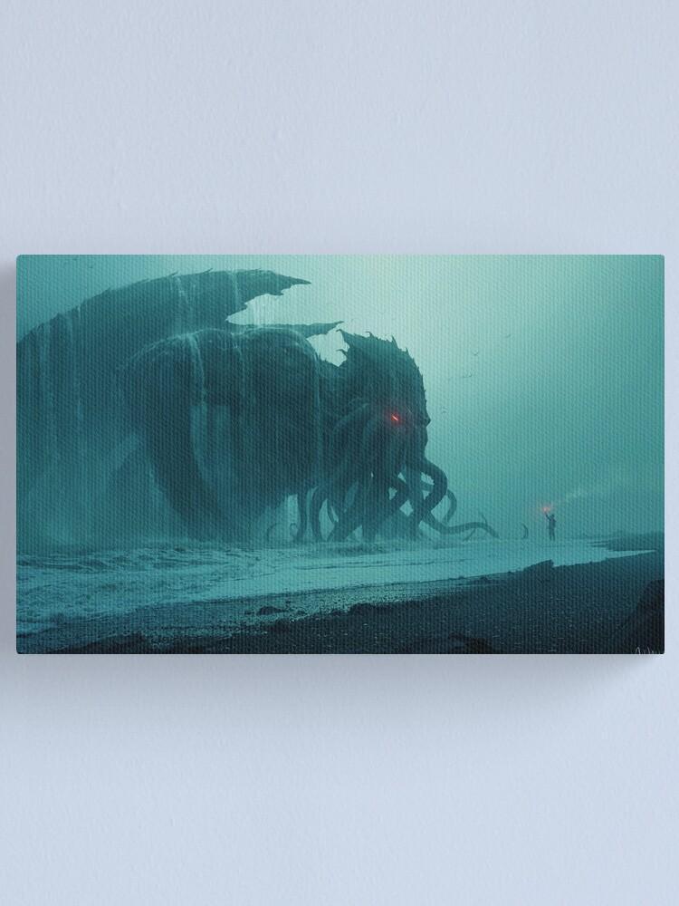 Alternate view of Cthulhu Awakens Canvas Print
