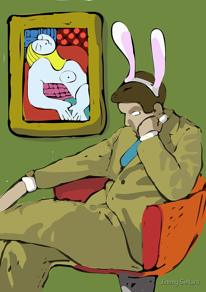 The Thinkers from My Year as a Rabbit by Jimmy Sellars