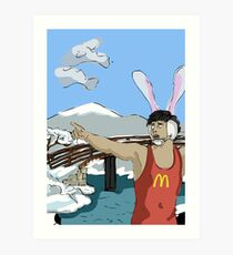Tsunami Early Warning System from My Year as a Rabbit Art Print