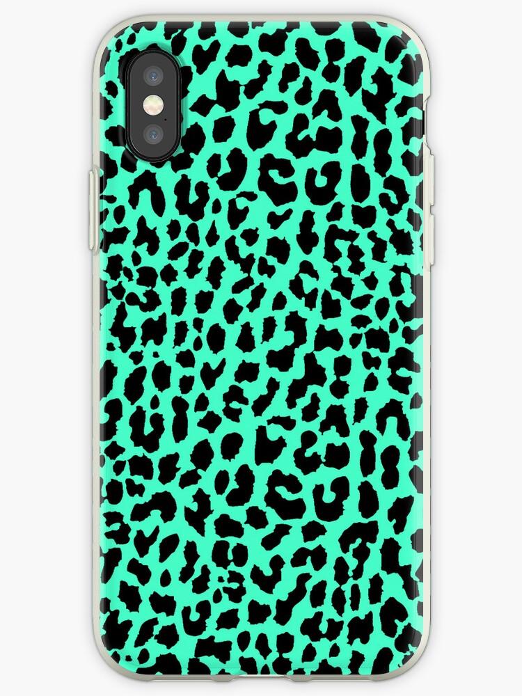 Neon Mint Leopard by Mango Tangerine Studio