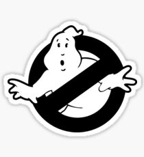 Original Ghostbusters Logo (in black and white) Sticker