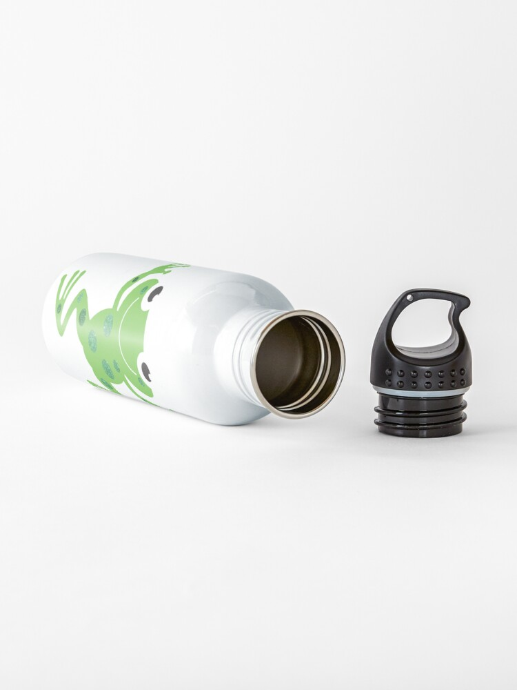 Alternate view of Cute Sparkly Dancing Green Frog Water Bottle