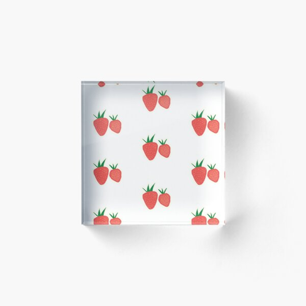 Strawberry Collection Acrylic Block