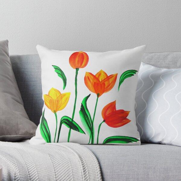 Tulpen / Aquarell Dekokissen