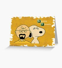 Breaking Bad Peanuts Greeting Card